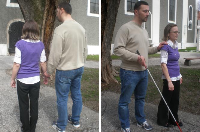 Kretanje slijepe osobe s videćim pratiteljem